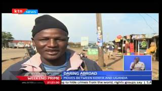 DARING ABROAD - 15th October 2016 - Saitoti Lema, a Tanzanian Hawker at Kenya-Uganda border