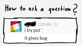 איך לשאול שאלות טכניות