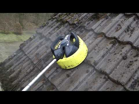 Moos auf dem Dach bekämpfen bzw. entfernen mit einem Hochdruckreiniger