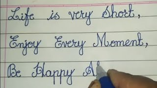 Happy Birthday Message in Cursive // How to write in Cursive Handwriting
