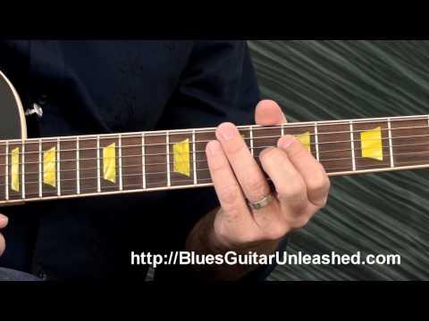 Blues Rhythm Guitar Lesson: Easy 2 Note Chords 12 Bar Blues