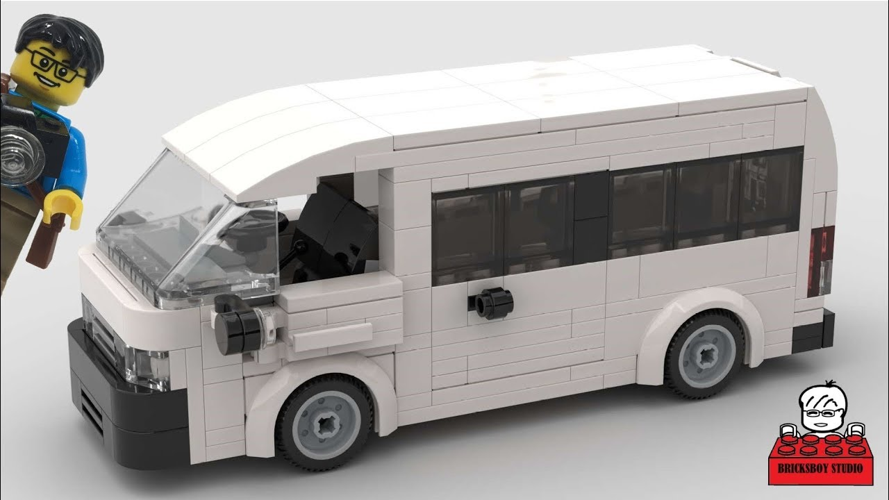 LEGO MOC #24 Toyota HiAce Van Stop Motion Speed Build by Minifigures