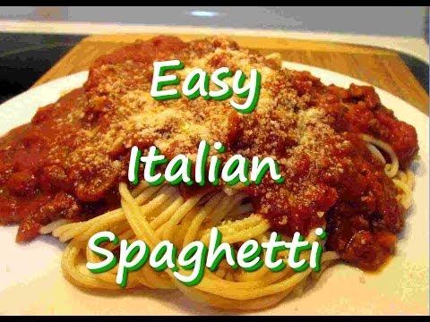 How to Make Easy Homemade Italian Spaghetti Recipe