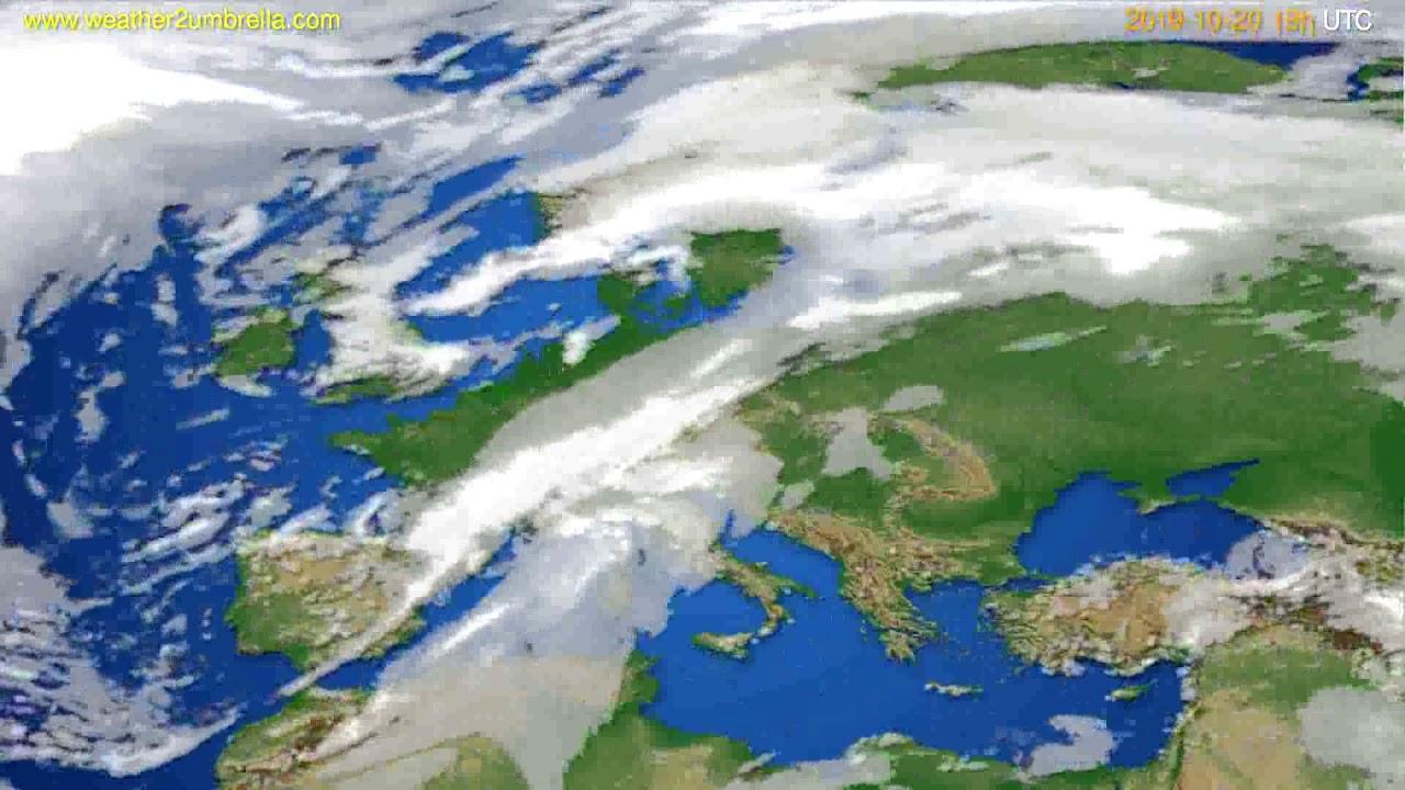 Cloud forecast Europe // modelrun: 12h UTC 2019-10-17