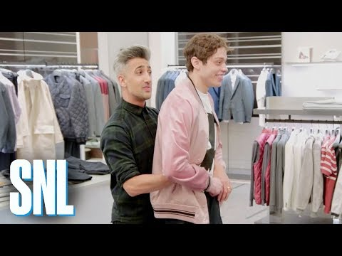SNL's Pete Davidson shows Queer Eye's Tan France the holes in his underwear