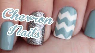 Tutorial Chevron Nails