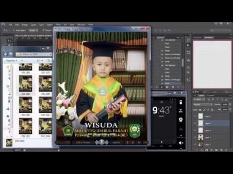 Video Tutorial Photoshop cs6 - Menambah Latar Logo dan Tulisan Otomatis ke 100 sampai 1000 file photo