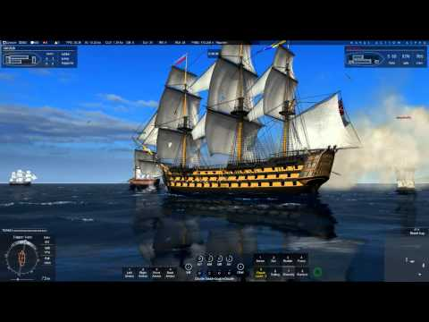 Naval Action: Big Ship PVP fight (Ft. Victory&Santisima Trinidad)