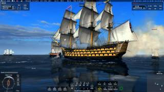Naval Action: Big Ship PVP fight (Ft. Victory&Santisima Trinidad)
