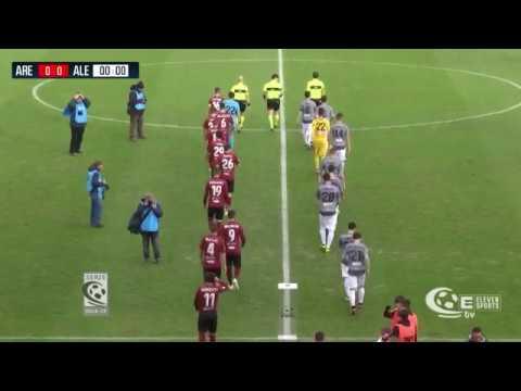 Arezzo-Alessandria 1-1, la sintesi della partita