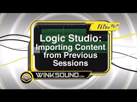 Logic Pro: Importing Audio Files from Previous Sessions | WinkSound
