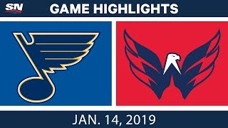NHL Highlights | Blues vs. Capitals - Jan. 14, 2019