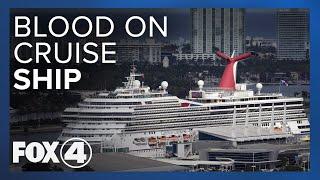 Blood on cruise ship