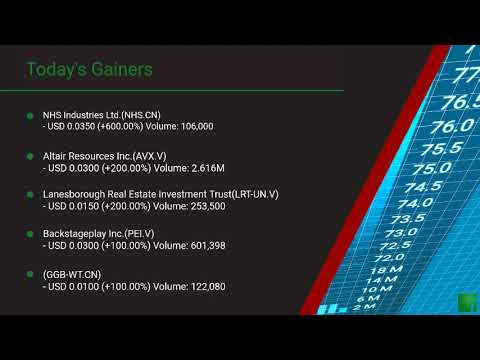InvestorChannel's Canadian Stock Market Update for Thursda ... Thumbnail