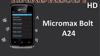 micromax a24 hard reset