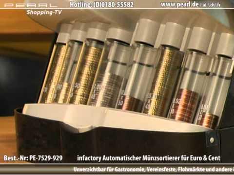 infactory Automatischer Münzsortierer für Euro & Cent