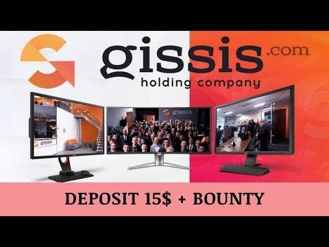 Gissis (gissis.com) отзывы 2019, обзор, mmgp, Deposit 15$ + BOUNTY