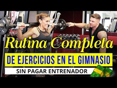 Rutina de ejercicios en el gym sin pagar entrenador - Ejercicios para Glúteos y Piernas