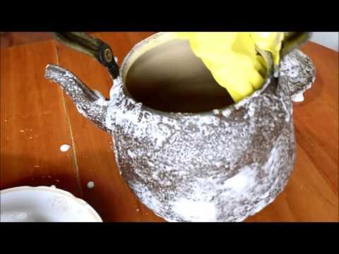 как очистить жир с посуды