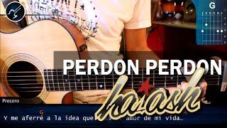 """Cómo tocar """"Perdón Perdón"""" de HA ASH en guitarra acústica (HD) Tutorial COMPLETO - Christianvib"""