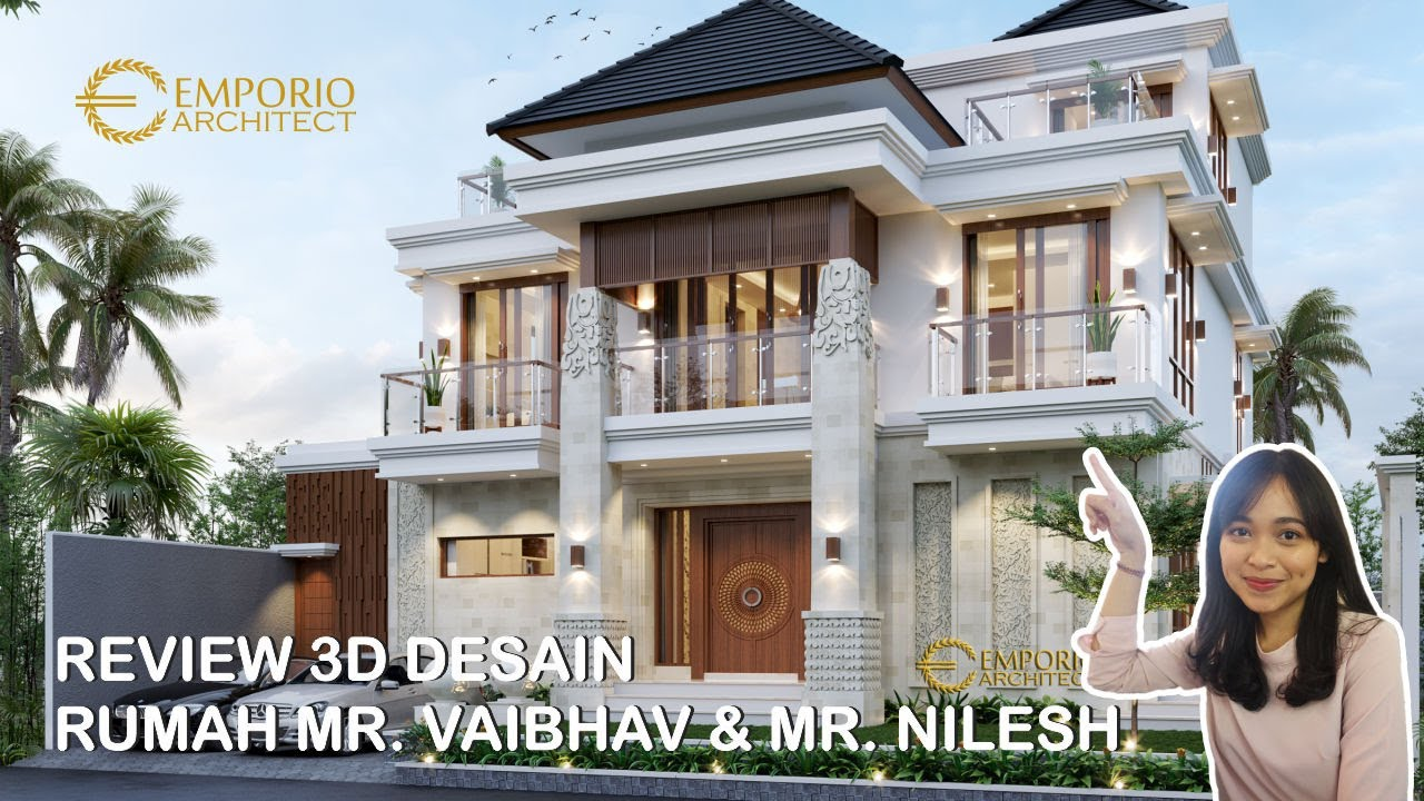 Video 3D Mr. Vaibhav and Mr. Nilesh Villa Bali House 2 Floors Design - India