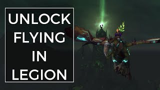 How To Unlock Flying In Legion