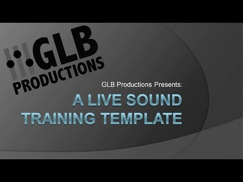 A Live Sound Training Template - YouTube