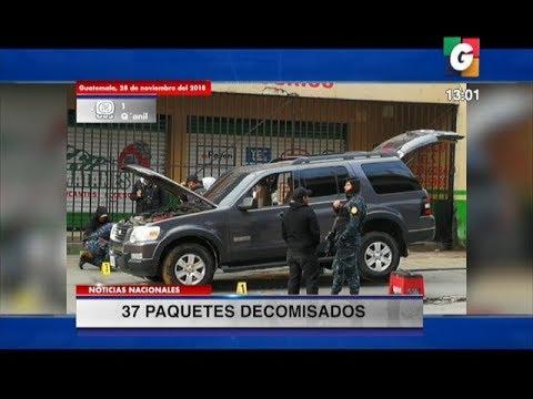 Perro detecta 37 kilos de cocaína, en el chasis de vehículo agrícola en Chimaltenango | 28Nov