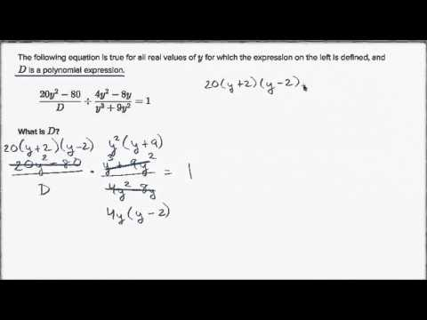 Dividing rational expressions: unknown expression (video