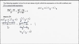 Dividing Rational Expressions: Unknown Expression | High School Math | Khan Academy