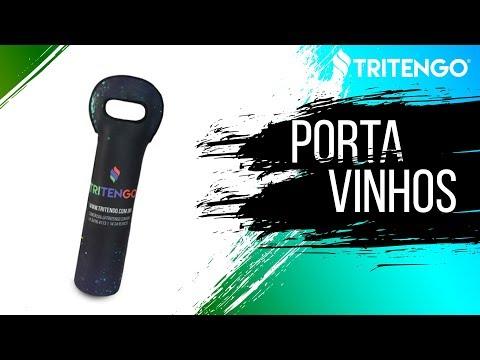 Porta Vinho em Neoprene Personalizado para Brindes Corporativos