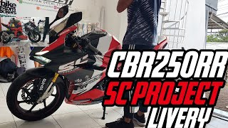 Honda CBR250RR decal stiker fullbody tema SC PROJECT Livery