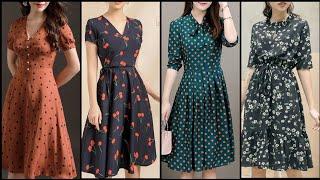 Latest Stylish ALine /Skater Dress Design /Midi /Knee Length Design /Fashion Diaries