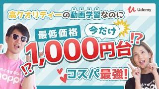 【Udemy】 世界最大級のオンライン動画学習!!高クオリティーなのにコスパGOOD!!