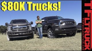2018 Ford F250 Limited vs Ram HD 2500 Tungsten: Most Expensive Luxury Trucks Compared