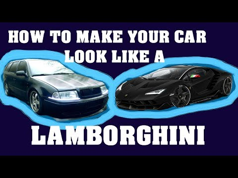 How To Make Your Car Look Like a Lamborghini!!