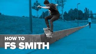 Смотреть онлайн Впечатляющий трюк на скейтборде: фронтсайд смит