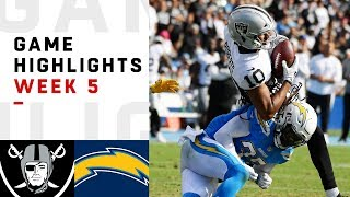 Raiders vs. Chargers Week 5 Highlights | NFL 2018