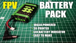 FPV 3D Printed Battery Pack