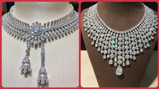 Most Beautiful And Unique Designs Of Diamond Necklaces, Very Beautiful And Unique Diamond Necklace