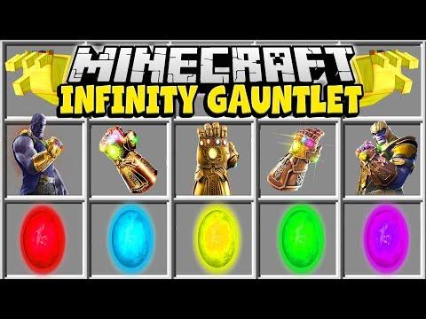 Minecraft INFINITY GAUNTLET MOD | CRAFT THE INFINITY GAUNTLET IN MINECRAFT!!