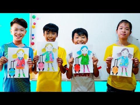 Hunter Kids Go To School Learn Colors Vali   Classroom Funny Nursery Rhymes