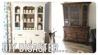 The Harrowing Tale Of A Disastrous Hutch Makeover - Storytime/DIY Project