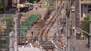 JR九州長崎本線「仮設線路が一部単線に」在来線高架工事進捗2017.9.9Japanese Railway