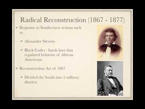Reconstruction to the end of chapter 15 – Sauers APUSH