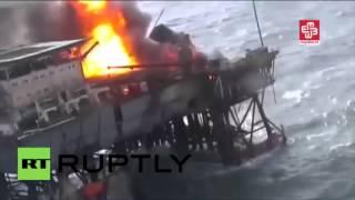 Un incendie ravage une plateforme pétrogazière azerbaïdjanaise en mer Caspienne