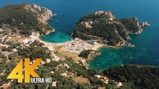 Greece Aerial 4K - Birds Eye View Of Santorini, Corfu And Athens - 3 HOUR Ambient Drone Film