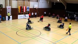 preview picture of video 'Finale vom Ottobock Powerchair Football Tournament Austria - Finland'