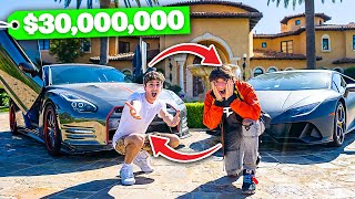 SWITCHING LIVES with the RICHEST Kid in America... **best decision ever**