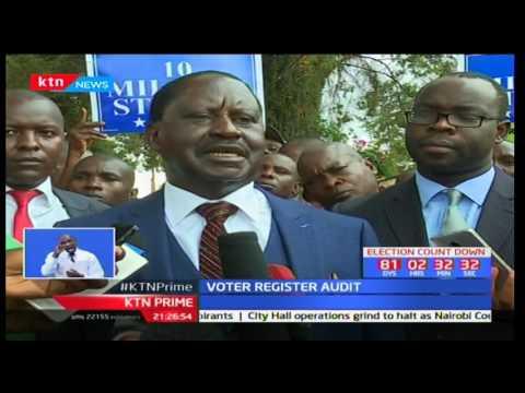NASA Flag bearer Raila Odinga blames IEBC for lack of proper advertisement of verification exercise